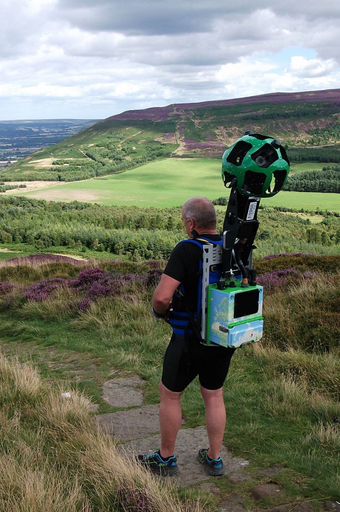 The Google Trekker in action on the Cleveland Way. Photo: North York Moors NPA