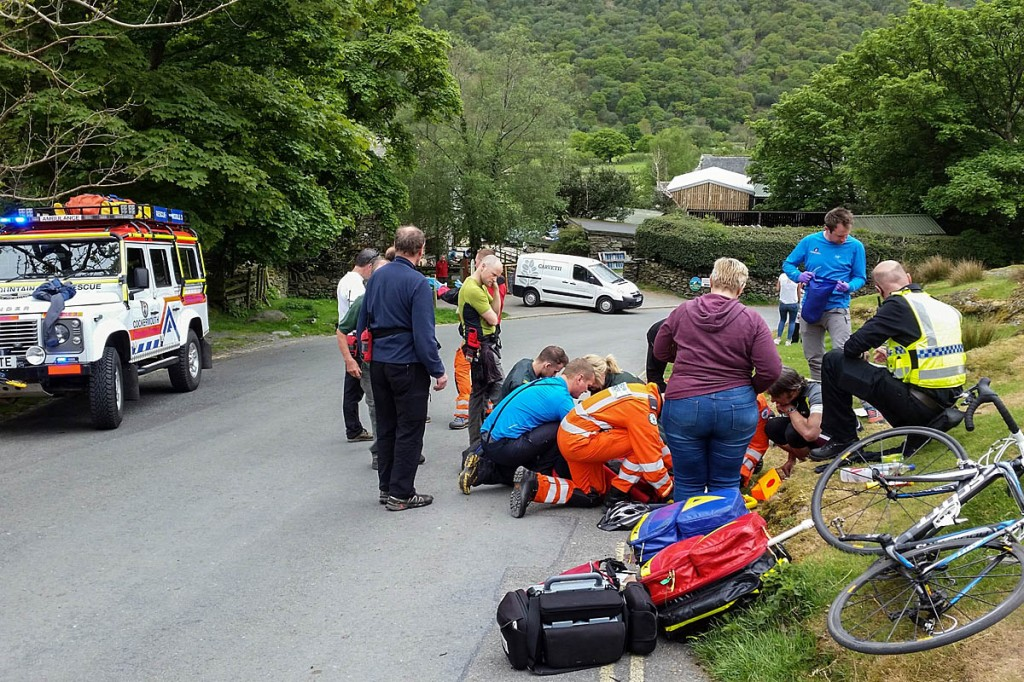 The scene of the cycle crash near Buttermere. Photo: Cockermouth MRT