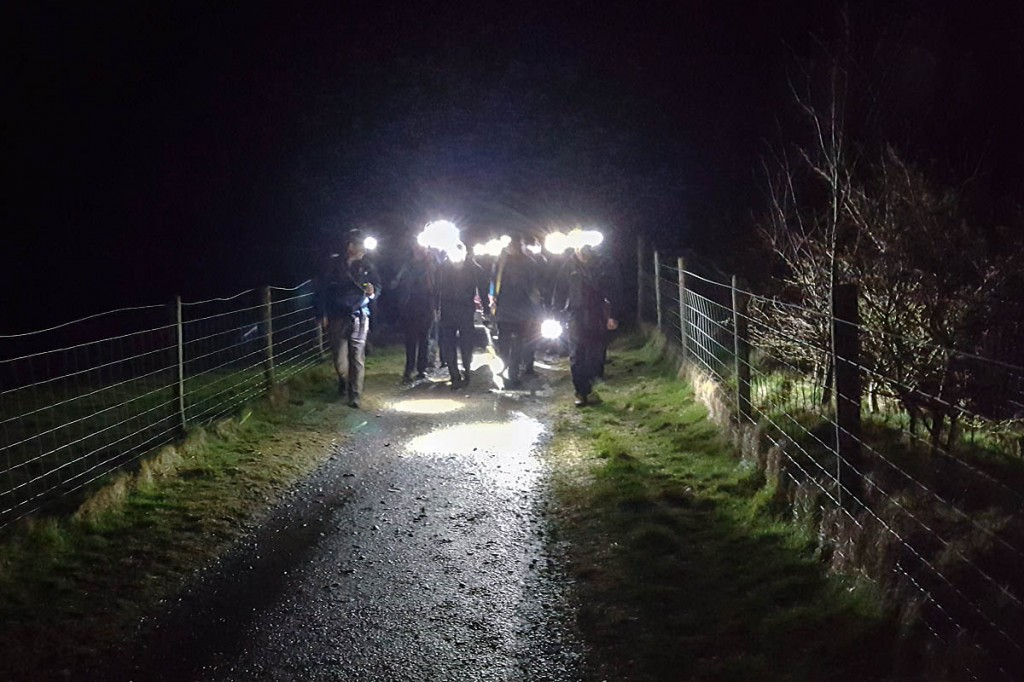 Team members stretchered the injured walker down to Gatesgarth Farm. Photo: Cockermouth MRT