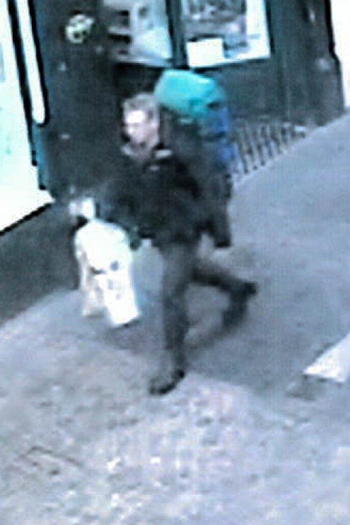 Mr Van Der Wetering was captured by CCTV in Inverness city centre at 11.35am on 28 December