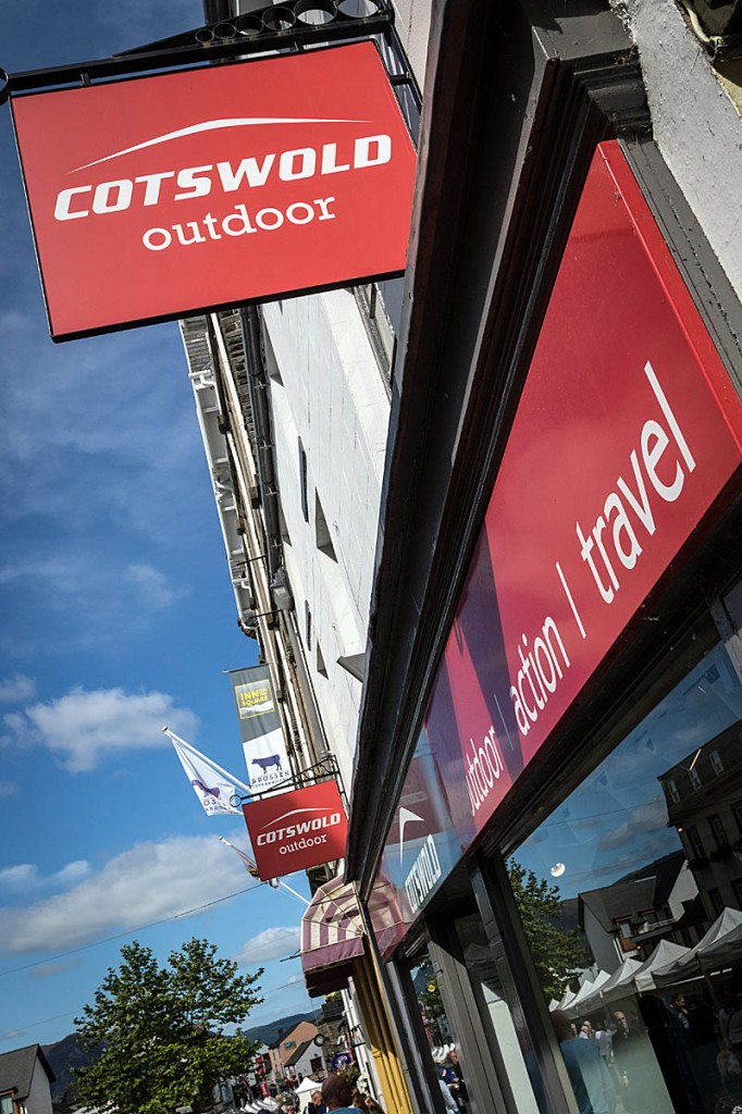 Cotswold Outdoor shops are a familiar sight on Britain's High Streets. Photo: Bob Smith/grough