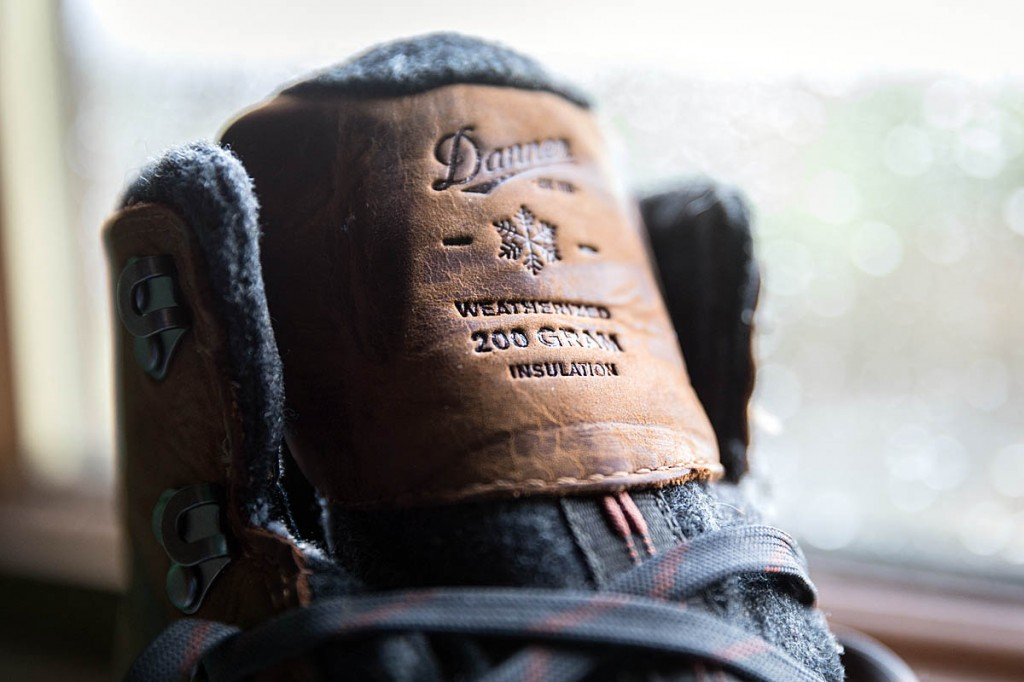 The Danner boots use Primaloft 200g insulation. Photo: Bob Smith/grough