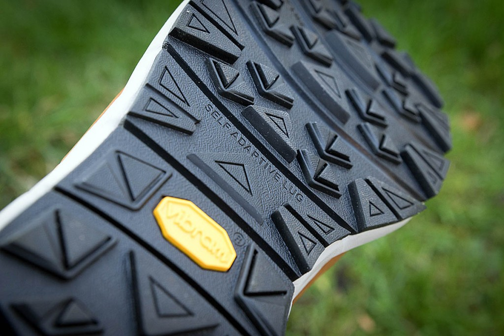 The Vibram sole, with its lateral flex lines, provided good grip. Photo: Bob Smith/grough