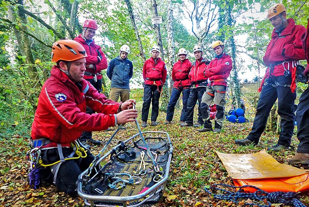 Rescuers hone their skills during the training. Photo: Dartmoor SRT Ashburton