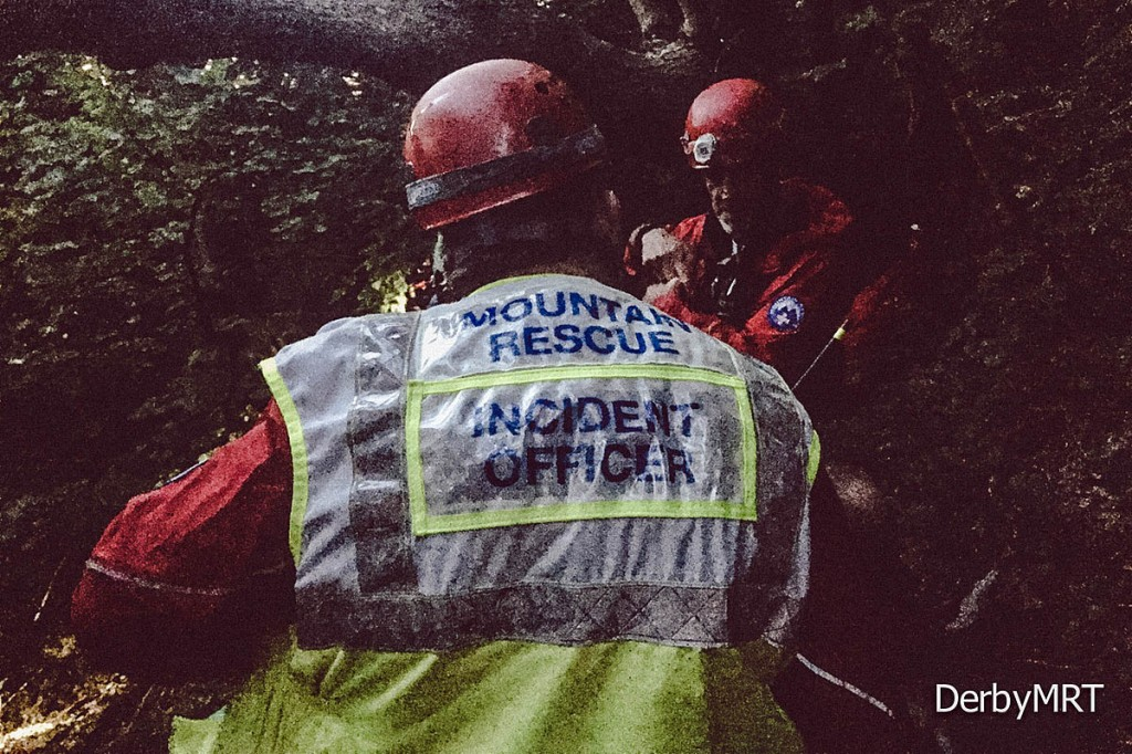 Rescue teams were at the site for almost nine hours. Photo: Derby MRT