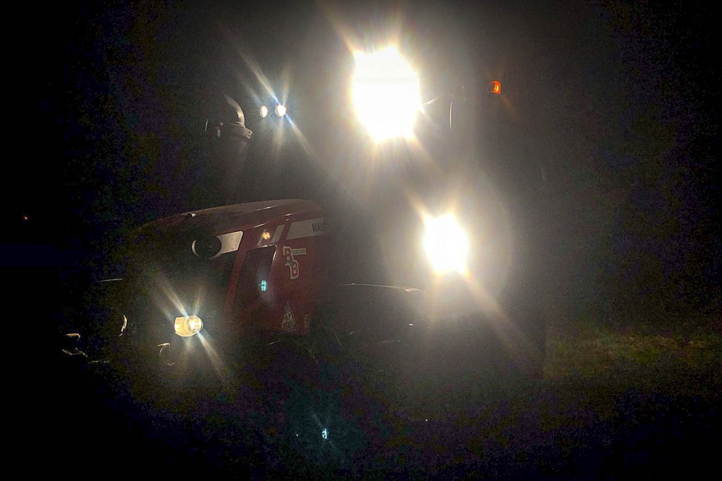 Rescuers enlisted the help of a farmer and his tractor in the search for the missing woman. Photo: Derby MRT