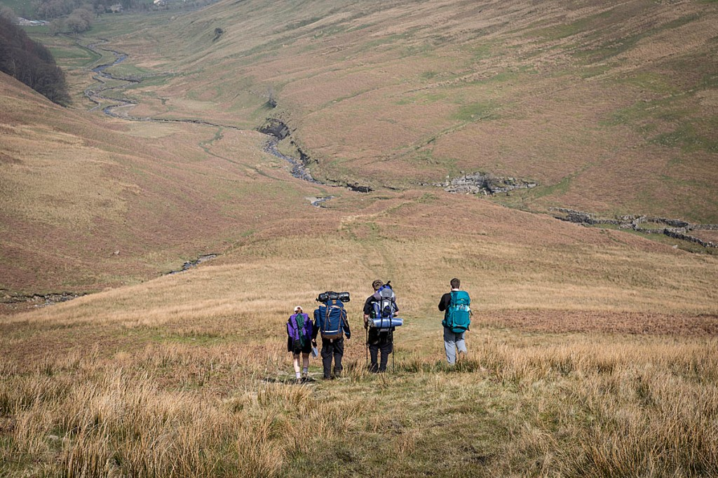 Young people taking part in a DofE expedition in the Yorkshire Dales. Photo: Bob Smith/grough