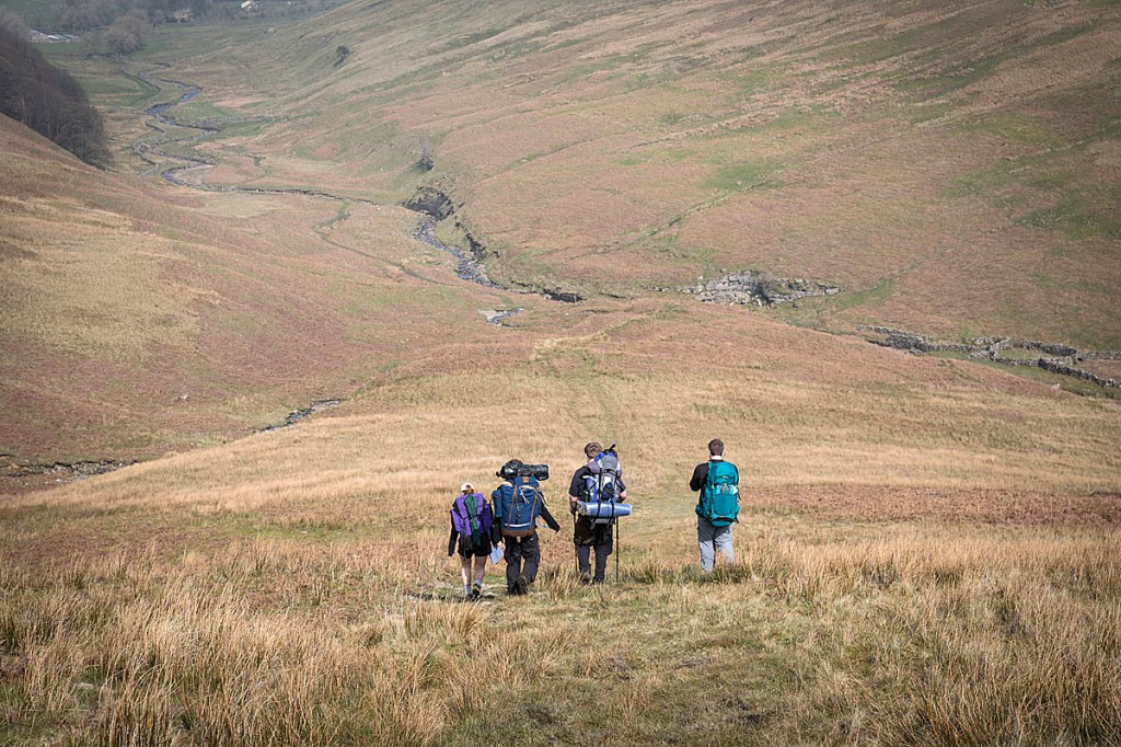 Duke of Edinburgh's Award expeditioners in the Yorkshire Dales. Photo: Bob Smith/grough