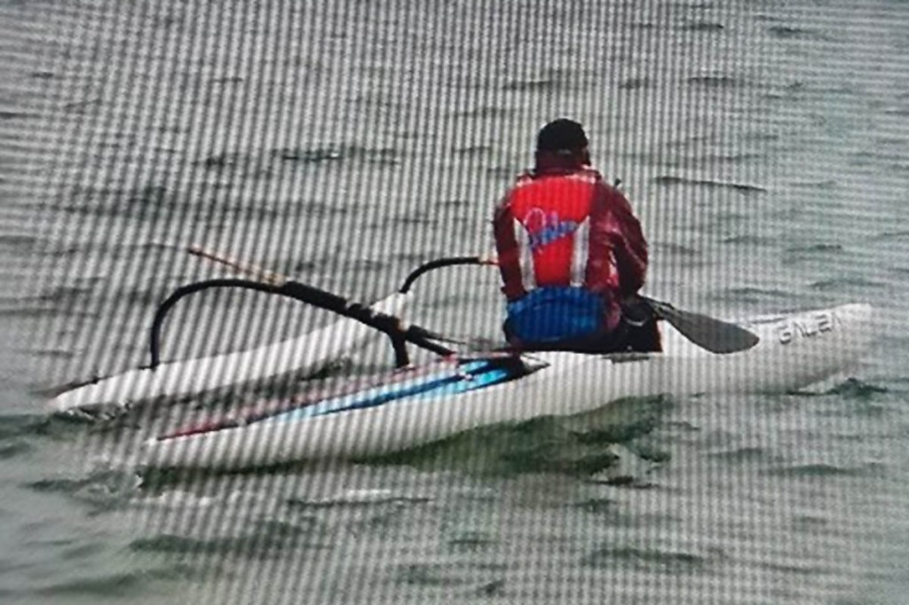 Mr Collier's kayak has a stabiliser and a blue strip along its top. Photo: Dorset Police
