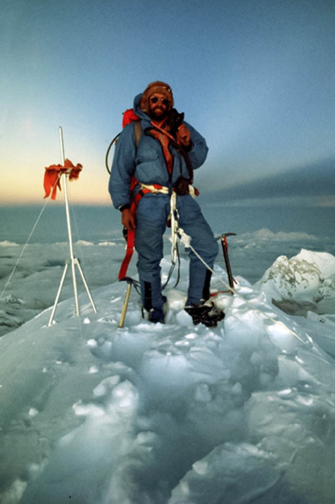Doug Scott on the summit of Everest