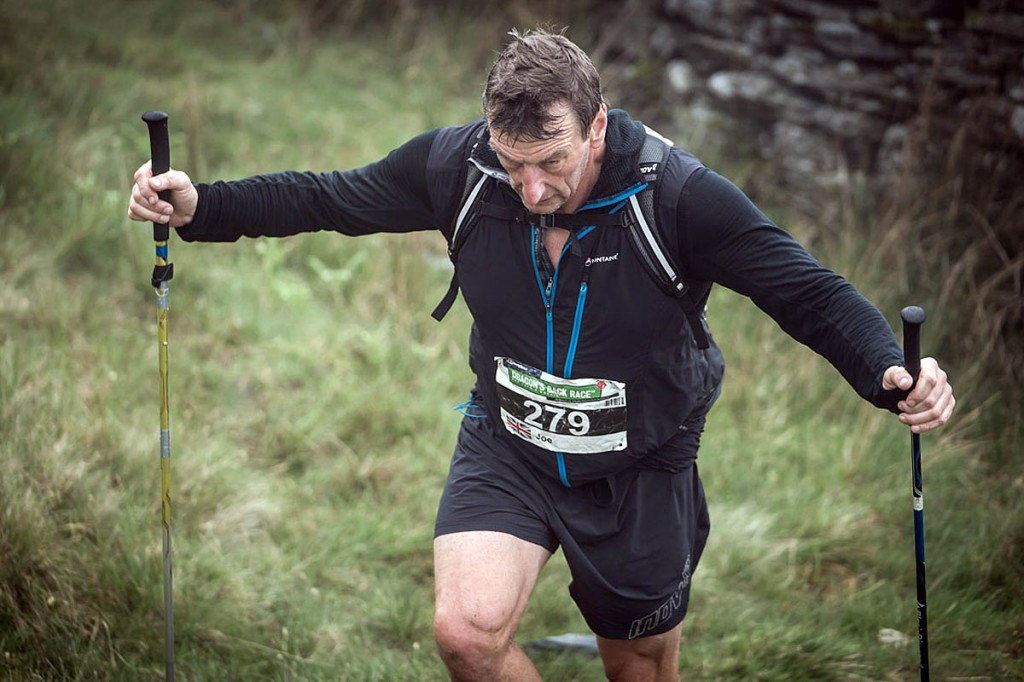 Joe Faulkner is the only man to have completed all the Dragon's Back Races. Photo: Ian Corless