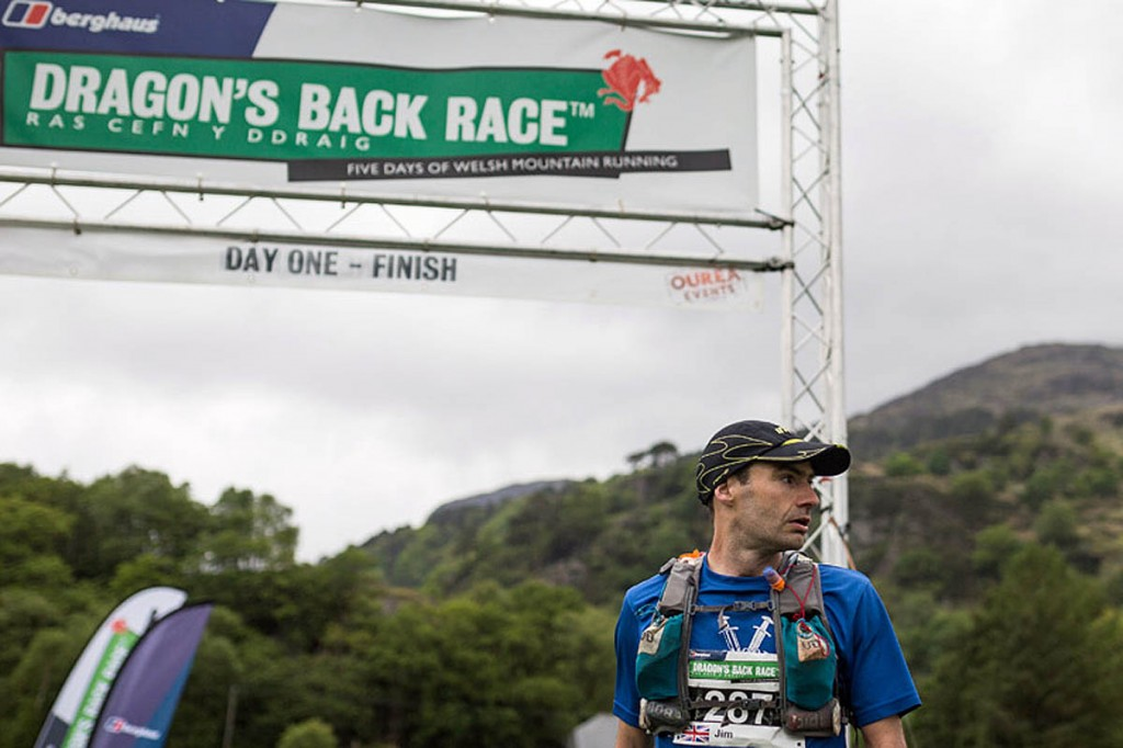 Jim Mann at the finishing line at the end of day one. Photo: Guillem Casanova