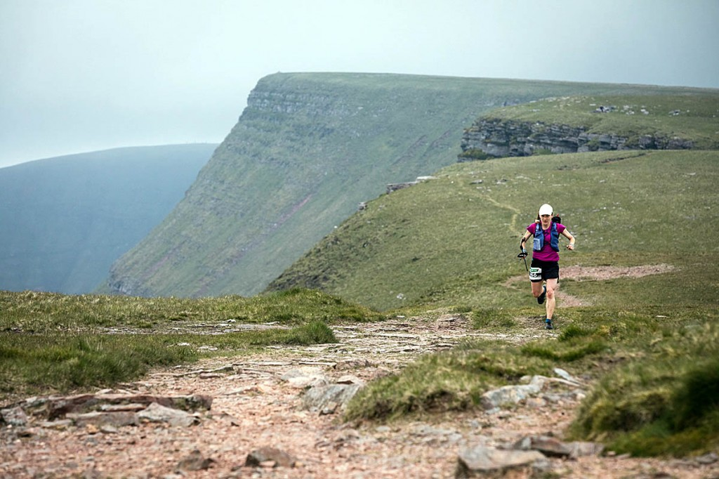 Lisa Watson on the Black Mountain on the final day of the race. Photo: No Limits Photography