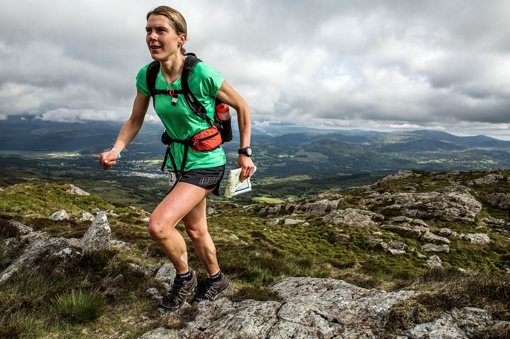 Jasmin Paris is still running strong in second position. Photo: Ian Corless