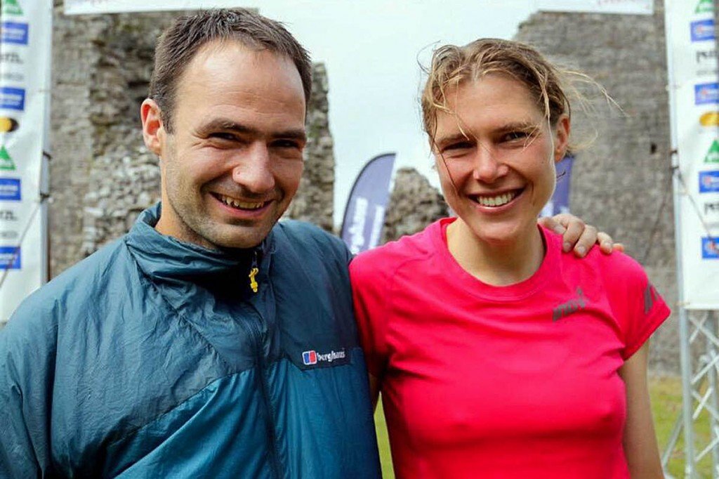 Jim Mann and Jasmin Paris, first and second in the gruelling race. Photo: Ian Corless