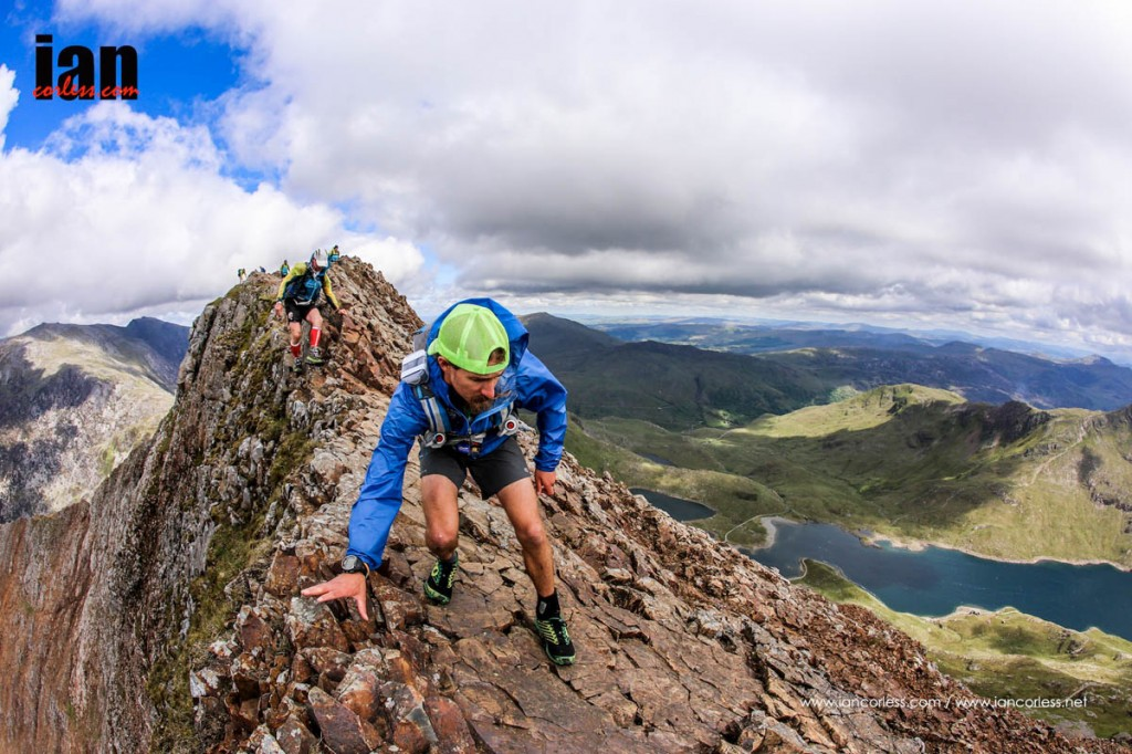 Kevin Douglas tackles Crib Goch during the event. Photo: Ian Corless