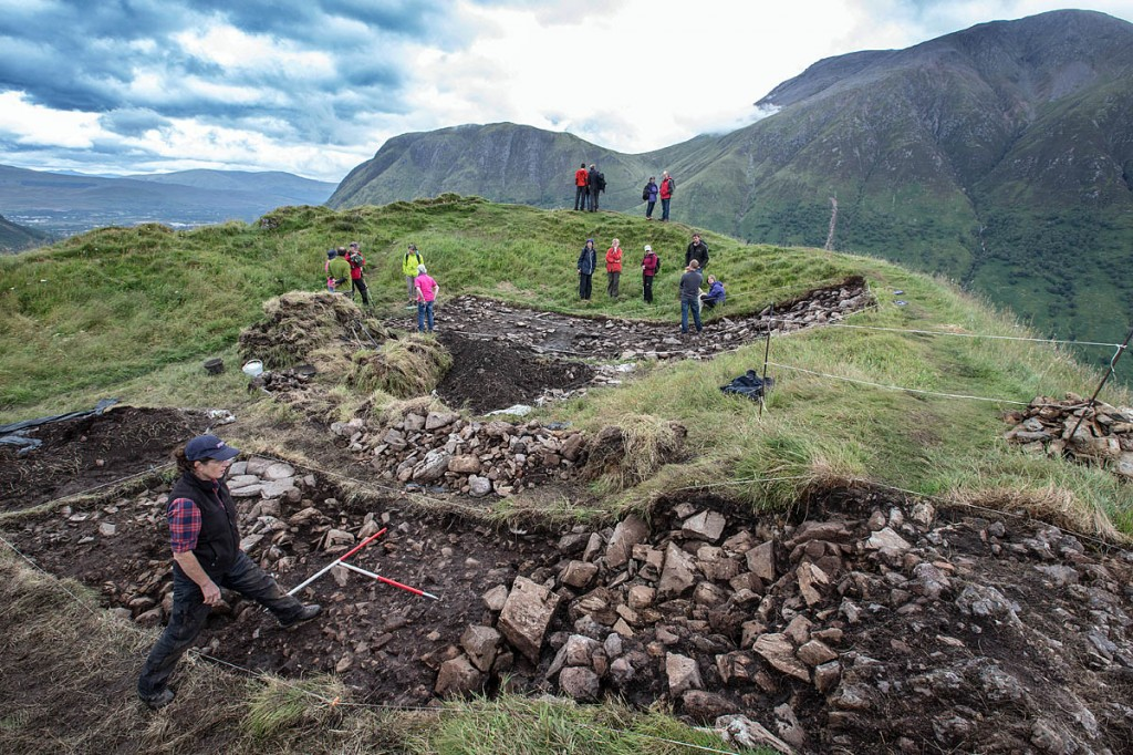The Dun Deardail site, with Ben Nevis in the background. Photo: Peter Devlin/Devlin Photo