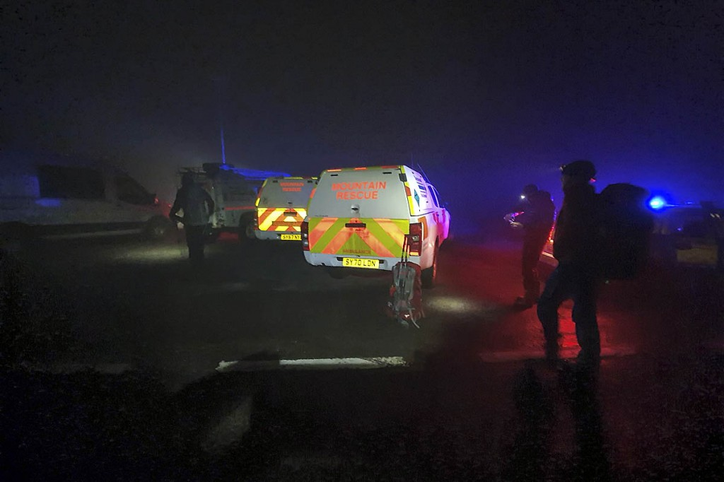 The rescue team was called out about 9.45pm. Photo: Rachel Maclennan