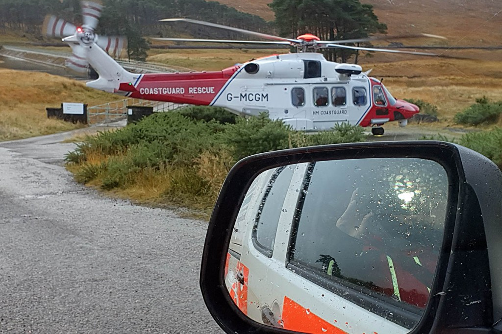 The walker was found by Inverness Coastguard Rescue 151. Photo: Rachel Maclennan