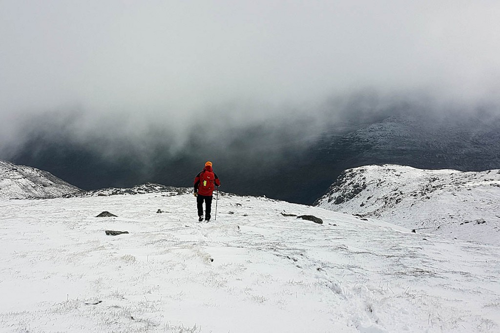 Winter conditions have returned to the mountains around Kinlochewe. Photo: Rachel Drummond