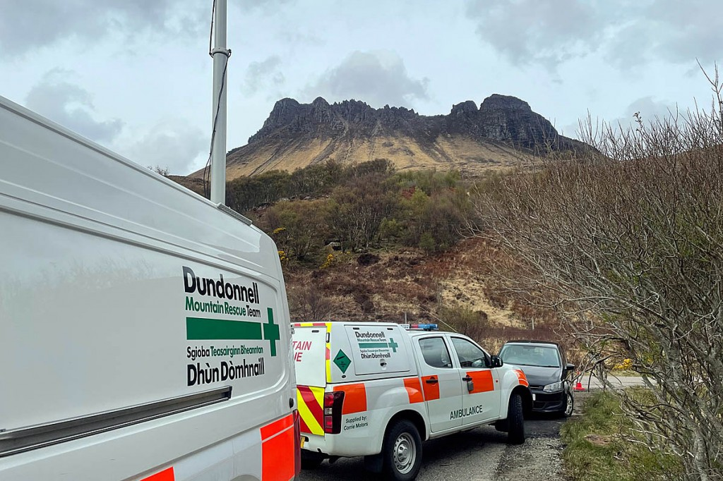 Rescuers were called out to Stac Pollaidh after the man fell. Photo: Dundonnell MRT