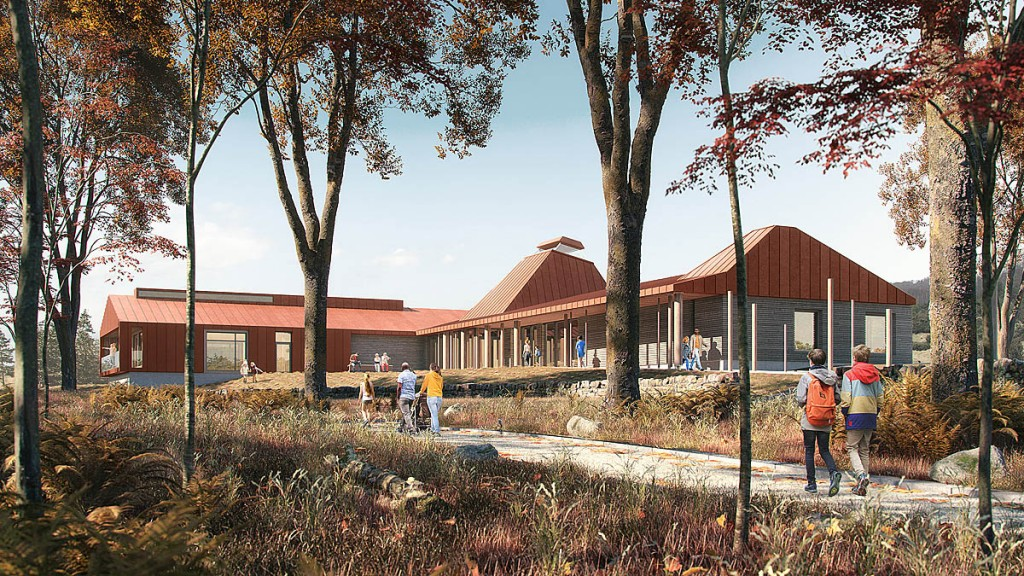 An artist's impression of how the new centre will look