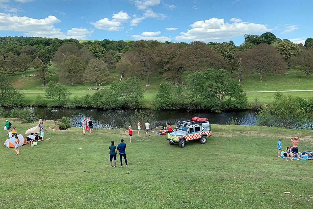 The volunteers were called to a casualty at Chatsworth. Photo: Edale MRT