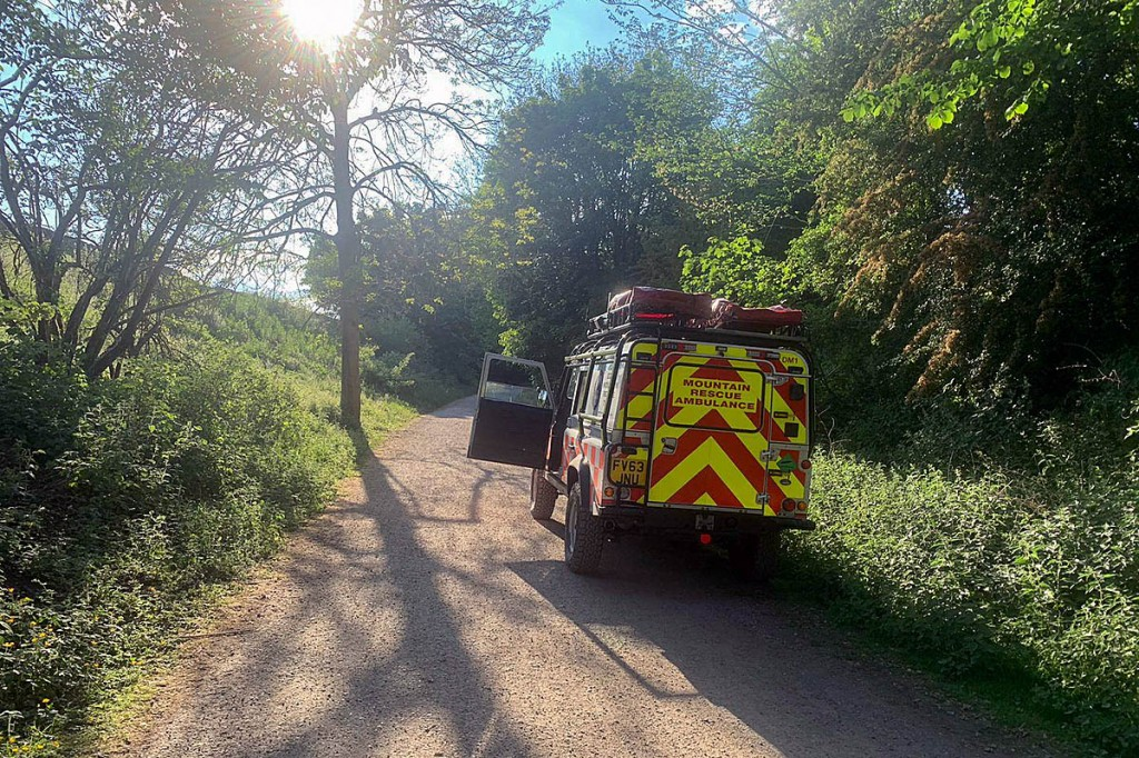 The team was kept busy with six calls for help in quick succession. Photo: Edale MRT