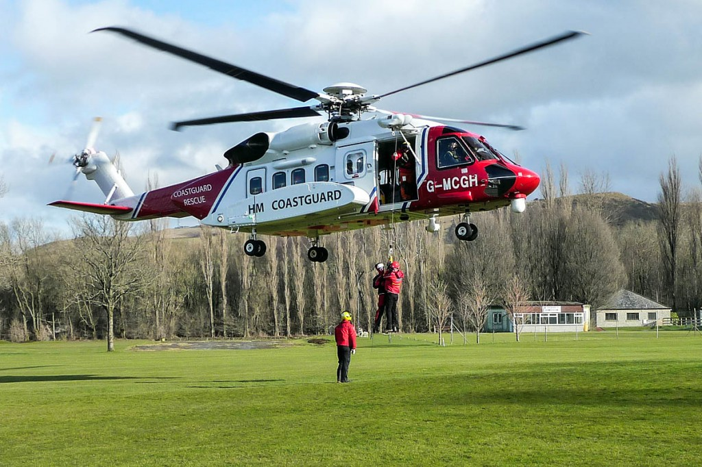 The Edale team has undergone extensive training with the new civilian helicopters. Photo: Edale MRT