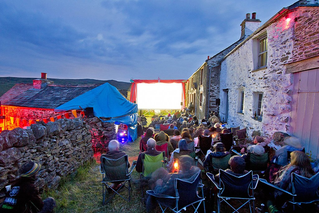 The outdoor screening of Withnail and I is the highlight of the event in Wet Sleddale. Photo: Richie Johnston