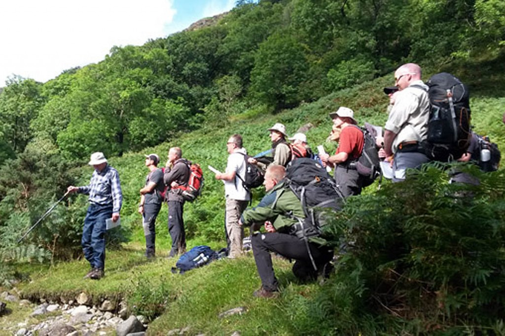 Outdoor leaders on a previous Friends of the Lake District training outing