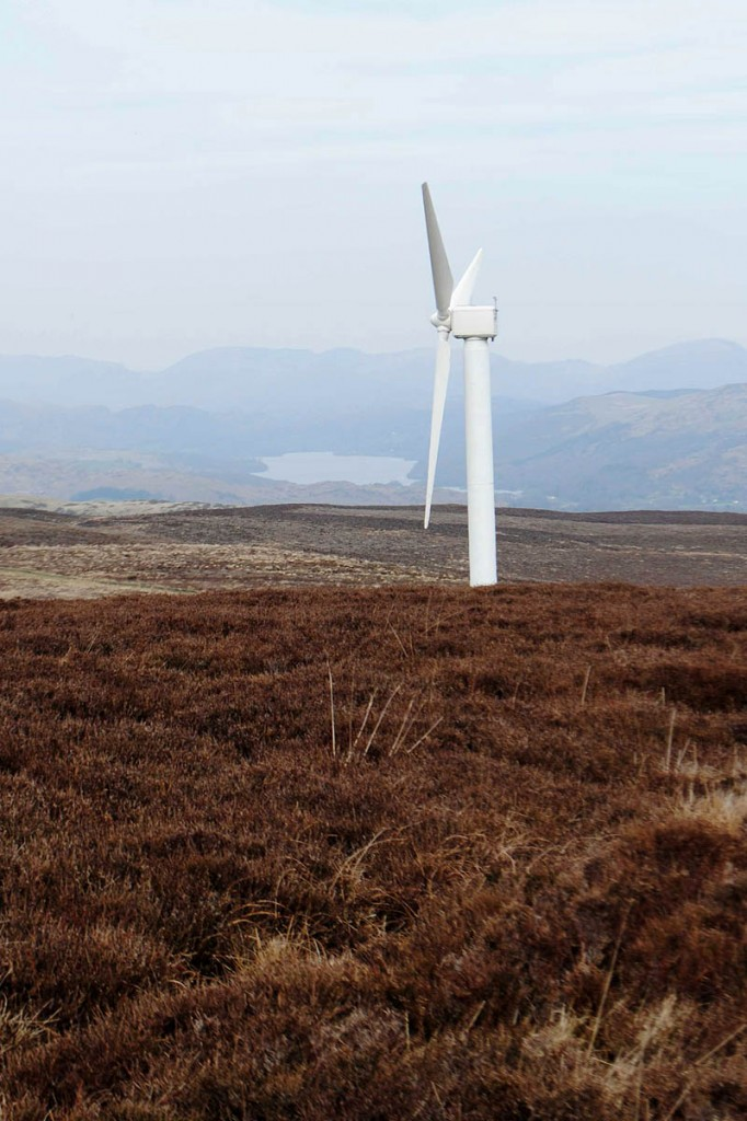 The Kirkby Moor turbines are visible from the Lake District fells. Photo: Friends of the Lake District