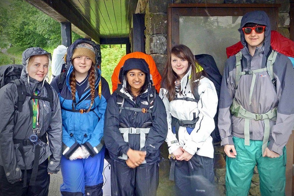 Young people take part in their Duke of Edinburgh's Award expedition at Thirlmere. Photo: Rod Ireland