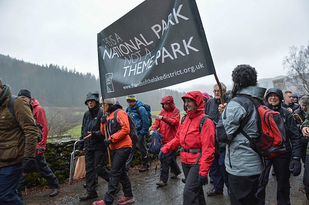 Friends of the Lake District organised a rally opposing the Thirlmere plans in January