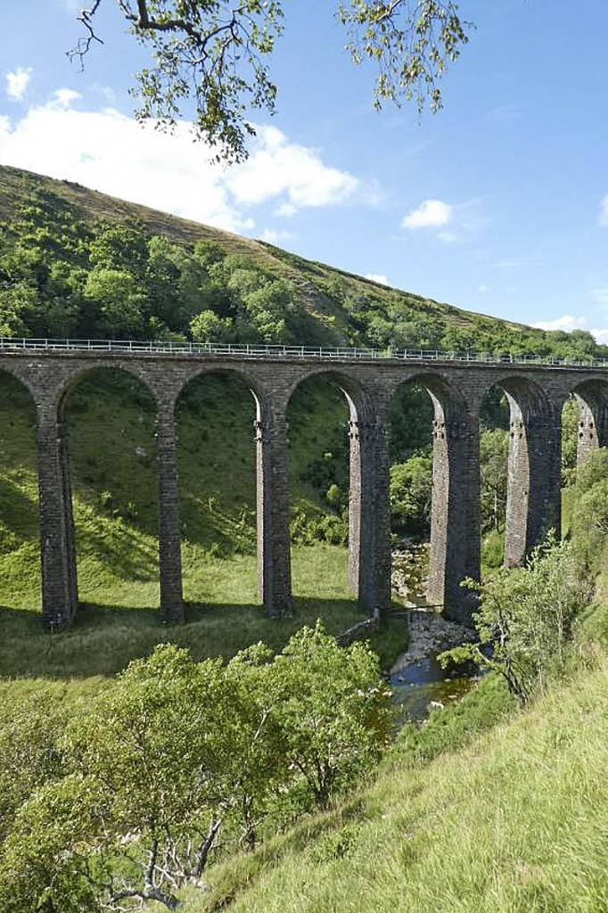 The viaduct lies close to the route of the Coast to Coast Walk