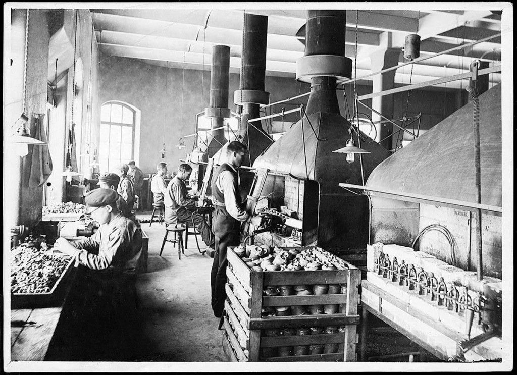 The Primus factory in Sweden is seen in this view from 1907