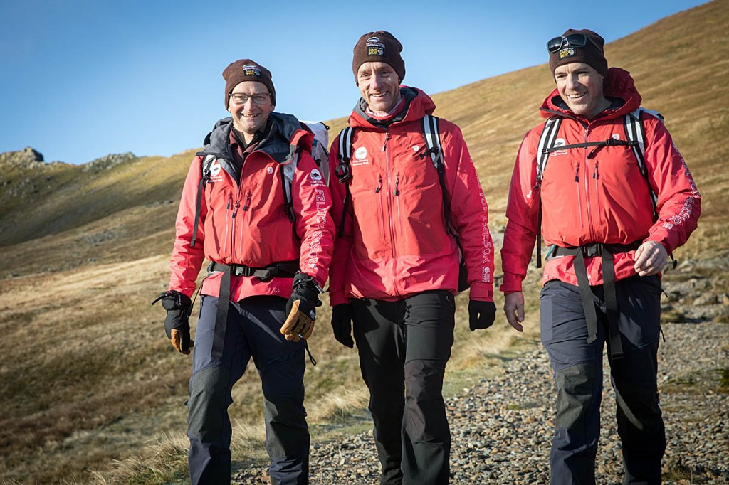 The felltop assessors: from left, Jon Bennett, Wes Hunter and Zac Poulton. Photo: Bob Smith/grough