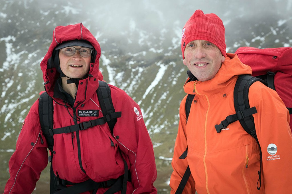 Lake District felltop assessors Jon Bennett, left, and Graham Uney. Photo: Bob Smith/grough
