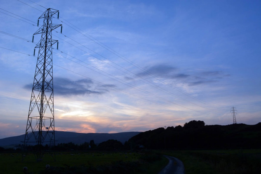 Pylons south of Foxfield