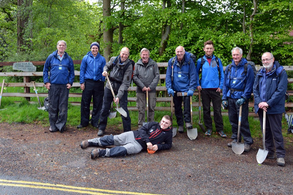 The team that tackled the Cat Bells drain runs