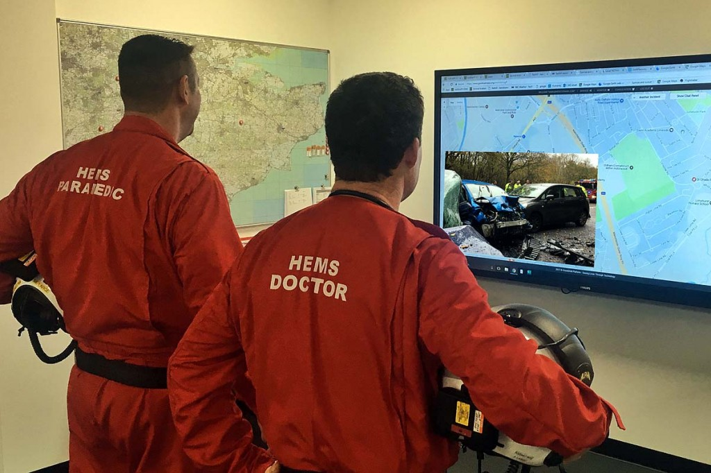 The Instant on Scene system allows remote views of casualty sites