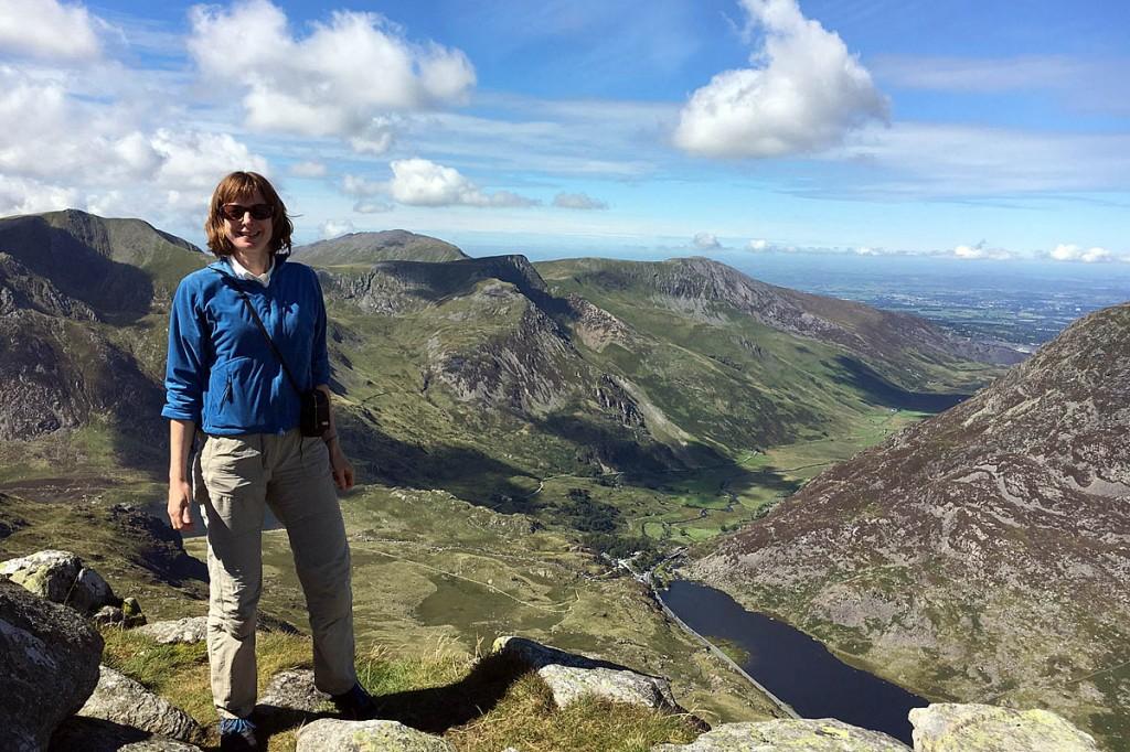Elizabeth May walking in Snowdonia