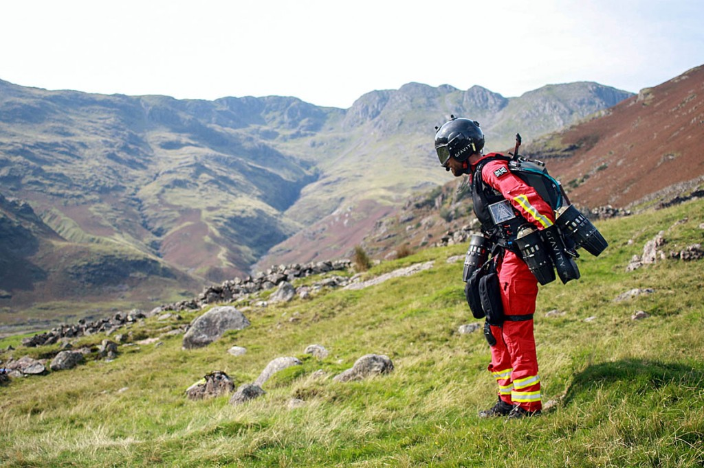 The Jet Suit uses five thrusters. Photo: GNAAS