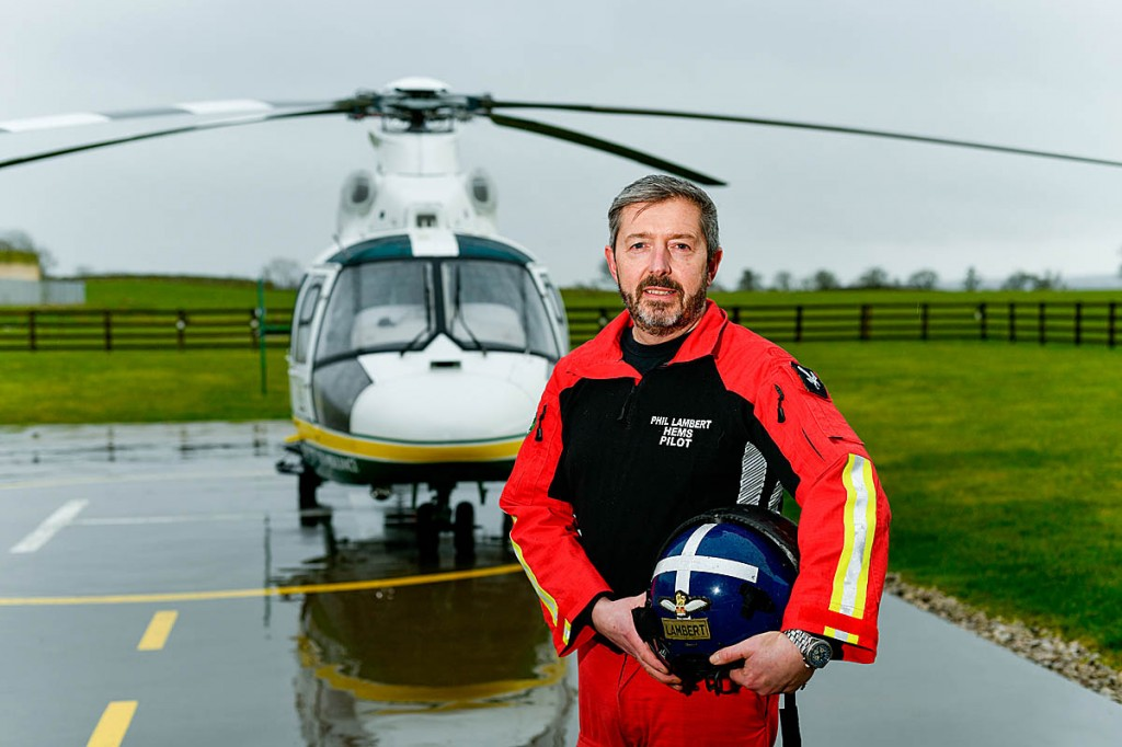 Pilot Phil Lambert is looking forward to flying the replacement helicopter. Photo: Stuart Walker
