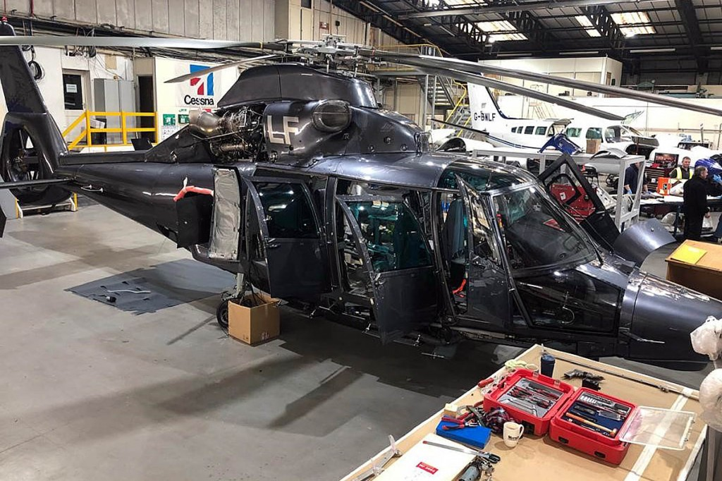 The new aircraft is currently being fitted out in Leeds. Photo: GNAAS
