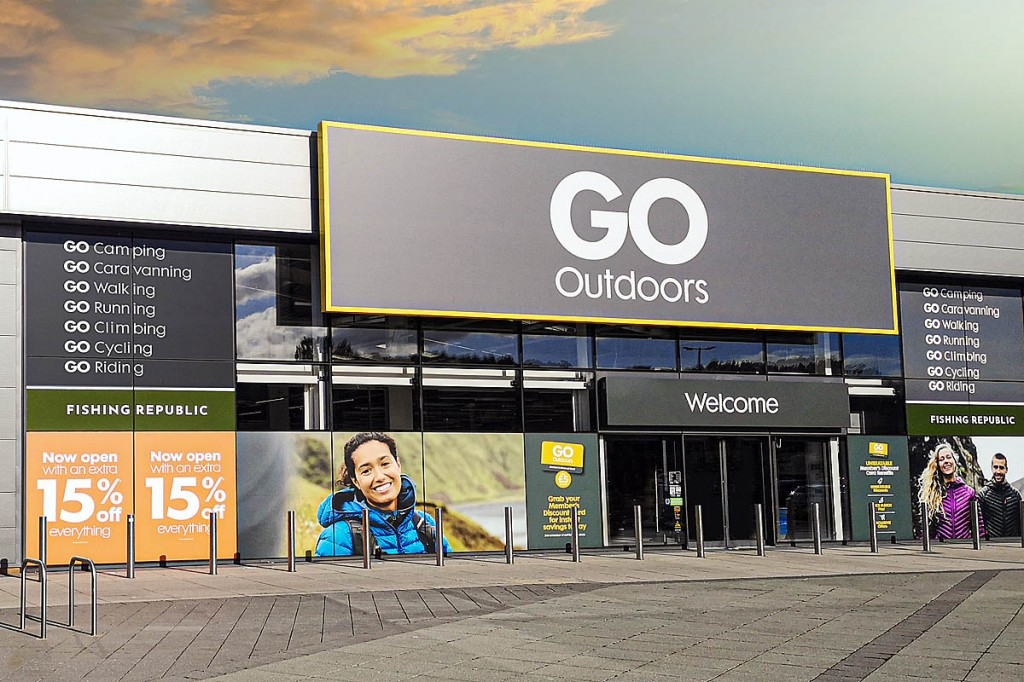 Sales of camping gear have increased over the past 12 months at GO Outdoors