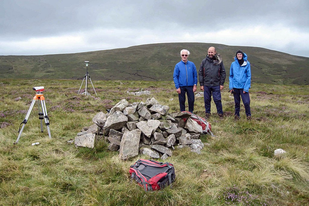The surveying team on Miller Moss