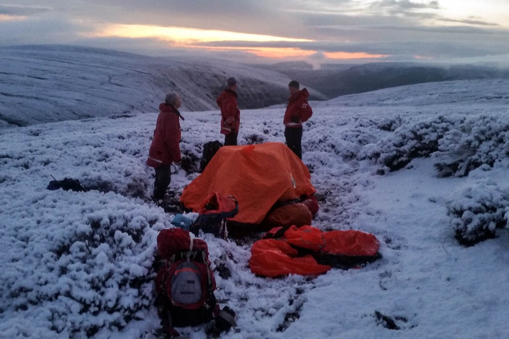 The scene at the rescue on Bleaklow. Photo: Glossop MRT