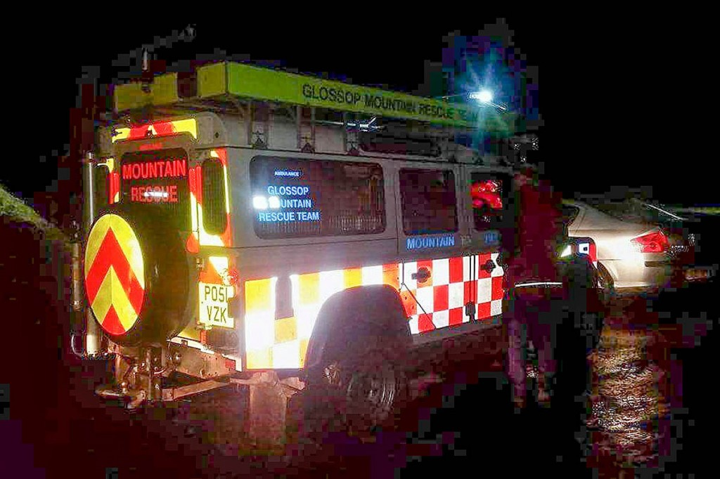 The team was also called out to aid a group of walkers on Bleaklow. Photo: Glossop MRT