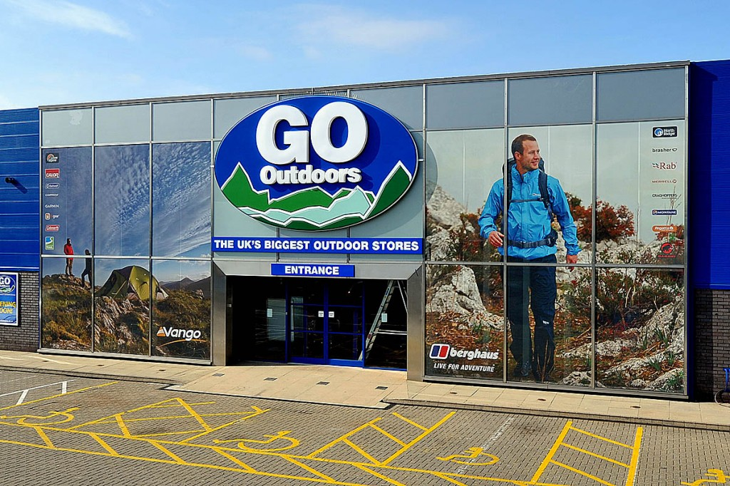 Go Outdoors operates 67 stores across the UK